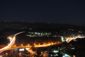 View north of Chattanooga, TN at night, long exposure.