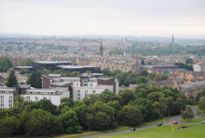 view of edinburgh, scotland from arthur's seat