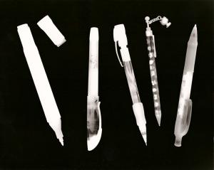 photogram image developed in the darkroom