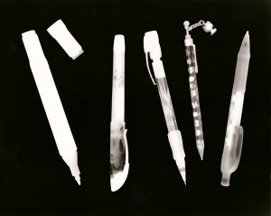 photogram image developed in the darkroom